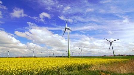 Windenergieanlagen in der Landschaft